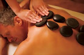 Hot Stone Massage for a man