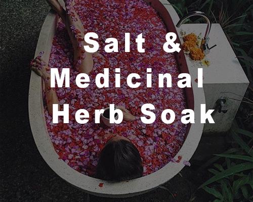 Salt & Medicinal Herb Soak